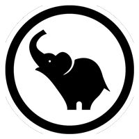 Black Elephant Digital Logo